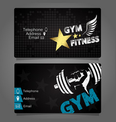 Business card gym and fitness design vector