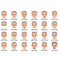 businessman various expressions set vector image