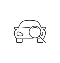 car diagnostic line icon vector image
