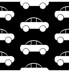 Car icon seamless pattern vector image