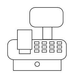 Cash register in store icon outline style vector image
