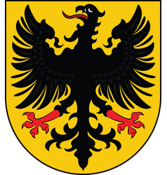 Coat of arms of arnstadt in thuringia in germany vector