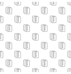 copy book pattern seamless vector image