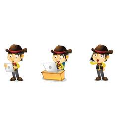 Cowboy 3 vector image