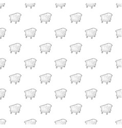 Cradle pattern seamless vector