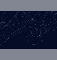 Dark background with contour lines vector
