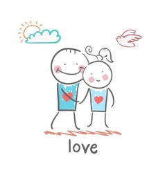 Girl and boy in love vector