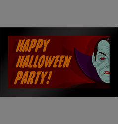 halloween dracula party set vector image