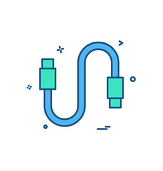 Hdmi cable icon design vector