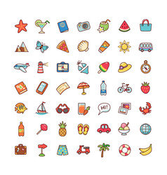 Icons vacation vector