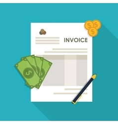 Invoice design Money icon Colorful vector