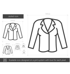 Jacket line icon vector