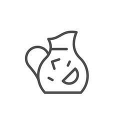 jug line icon vector image