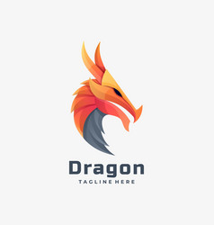 logo dragon gradient colorful style vector image