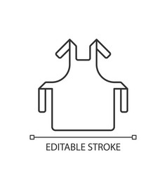 Medical apron linear icon vector