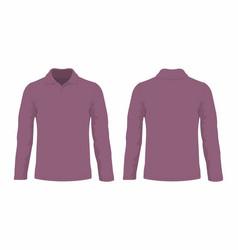 Mens burgundy long sleeve t shirt vector