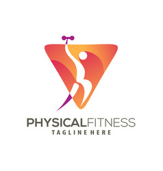 modern fitness logo and icon design vector image