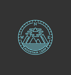 Mountain camp logo vector