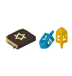 muslim tradition islam source jew bible book vector image