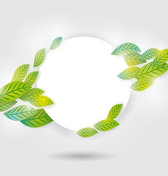 Nature background with green fresh leaves white vector image