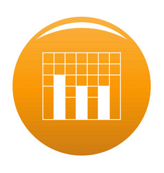 new graph icon orange vector image