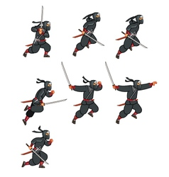 Ninja Jumping Game Sprite vector