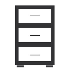 office drawer isolated icon vector image