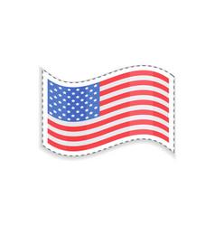 old glory usa flag rectangular shape patriotic vector image