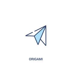 Origami concept 2 colored icon simple line vector
