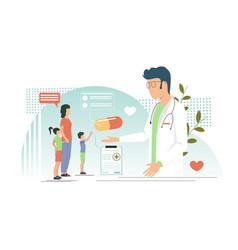 Pediatrician concept for web banner vector
