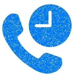 Phone Time Grainy Texture Icon vector