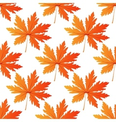 Pretty colorful autumn leaf seamless pattern vector image