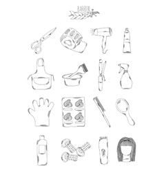 Professional collection of icons and elements vector image