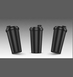 Protein shaker cup for sports nutrition gainer vector