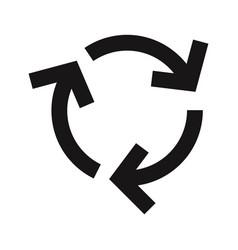 recycle arrows icon vector image