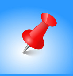 Red pin realistic vector
