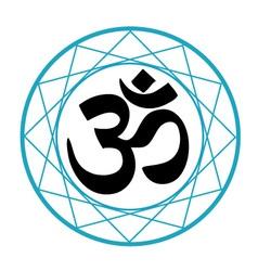 Religious symbol hinduism- pranava vector