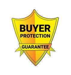 Seal buyer protection guarantee shield logo vector