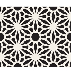 Seamless Black and White Lace Floral vector