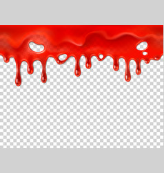 Seamless dripping blood halloween red bleed stain vector