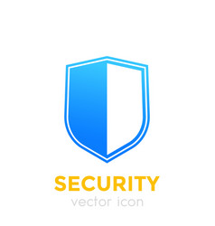 Security concept shield icon vector