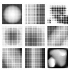 set backgrounds from halftone dots design vector image