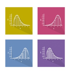 Set Chart of Normal and Not Normal Distribution vector image vector image