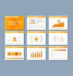 Set of template for presentation slides vector image vector image