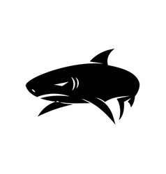 shark logo design isolated with template vector image