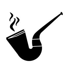 Silhouette st patrick day tobacco pipe leprachaun vector