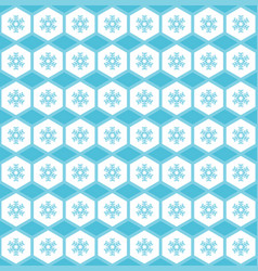 simple seamless pattern snowflakes in ornament vector image