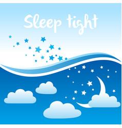 Sleep tight background vector