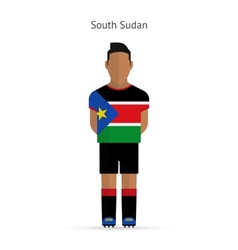 South Sudan football player Soccer uniform vector