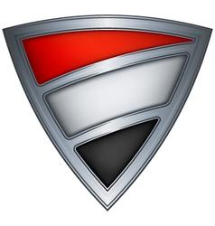 steel shield with flag yemen vector image vector image